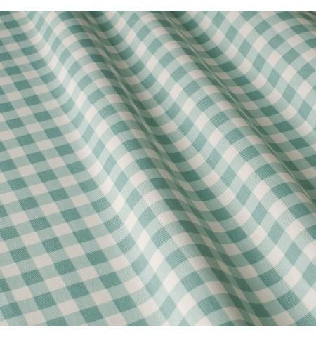 Ткань в клетку зеленого цвета
