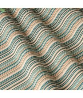 Ткань в полоску голубо-зеленая