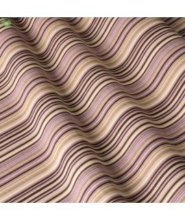 Ткань в полоску сиреневая