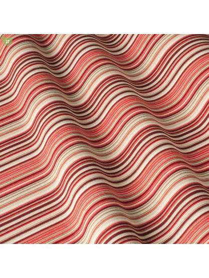 Ткань в полоску красная