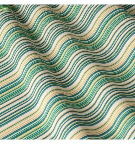 Ткань в полосу, зеленая