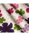 Ткань с принтом цветы розовые