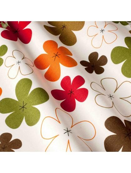 Ткань с принтом цветы