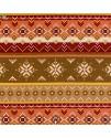 Ткань этнический орнамент огненная