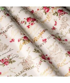Ткань тексты и цветы