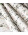 Ткань тексты и цветы бирюза