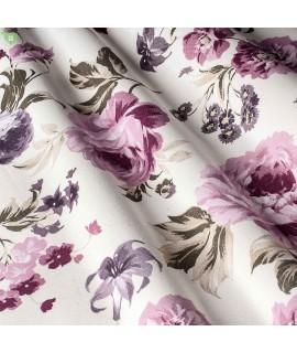 Ткань розы сиреневые
