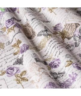 Портьерная ткань цветы сиреневые