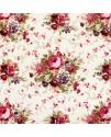 Ткань с крупным рисунком цветы розовые