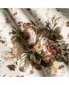 Ткань с крупным рисунком цветы бежевые
