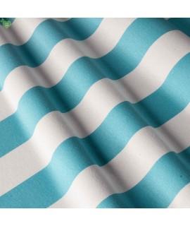 Ткань в широкую полосу, голубая