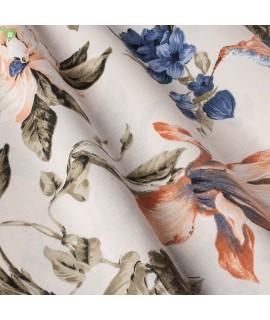 Ткань портьерная колибри синие