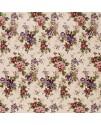 Портьерная ткань цветы