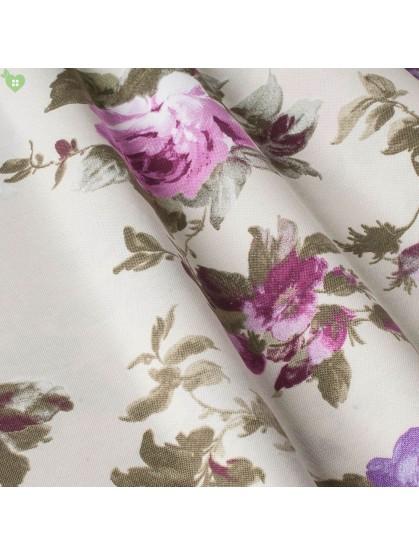 Портьерные ткани цветы сиреневые