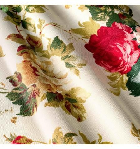 Портьерные ткани цветы крупные красные