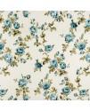 Портьерная ткань,  розы голубые