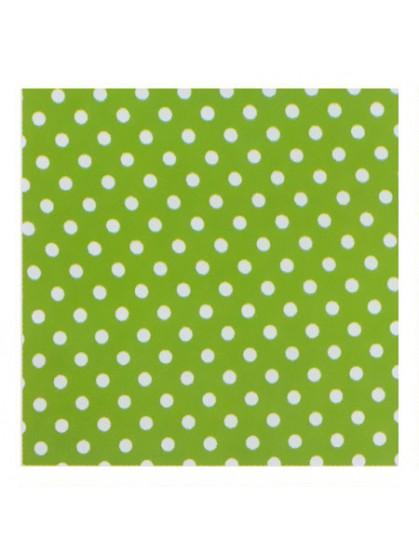 Ткань в горошек, зеленая
