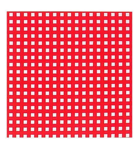 Ткань в клетку красная