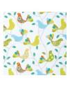 Декоративная ткань, птички зеленые