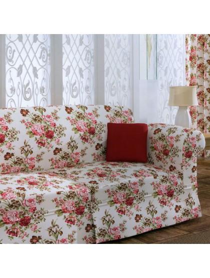 Портьерная ткань в цветочек