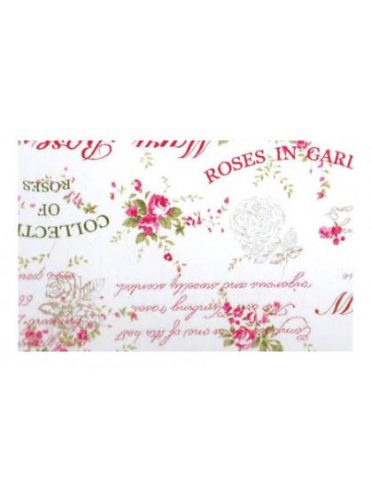 Ткань тексты и цветы розовая