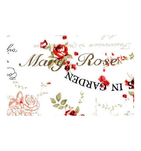 Ткань тексты и цветы красная