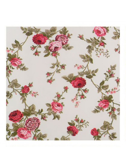 Ткань портьерная розы