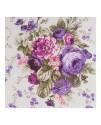 Ткань с крупным рисунком цветы фиолетовые