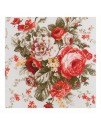Ткань с крупным рисунком цветы красные