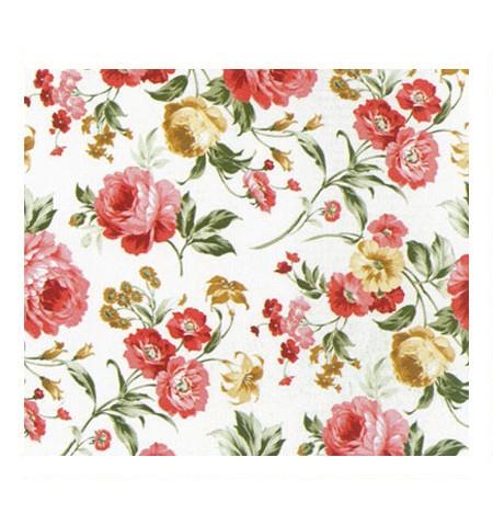 Ткань розы красные