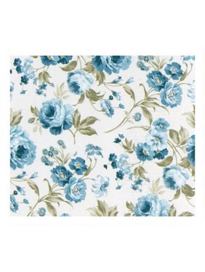 Ткань розы голубые