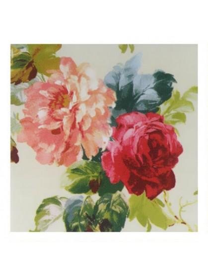 Ткань с очень крупным рисунком, цветы