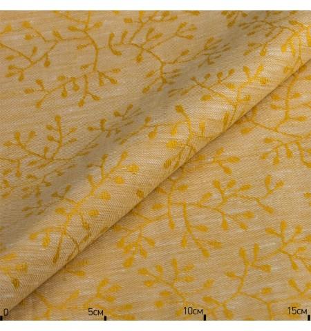 Ткань лен, золотой