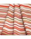 Ткань портьерная полоса красная с бежевым