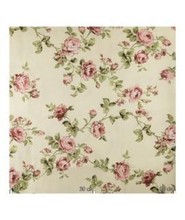 Портьерная ткань,  розы светлые