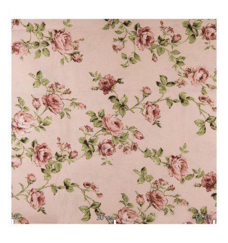 Портьерная ткань,  розы пенка вишни