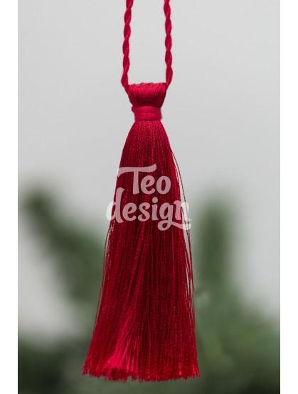 Декоративная кисточка, красная