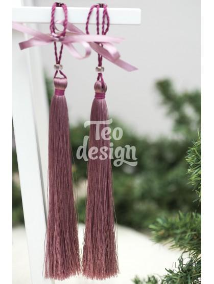 Декоративная кисточка розовая сирень
