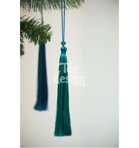 Декоративная кисточка сине-зеленая