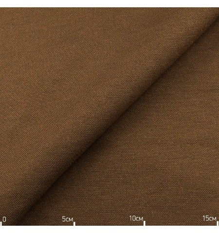 Однотонная декоративная ткань коричневая, Турция
