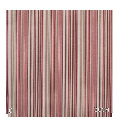 Ткань в полоску вишневая