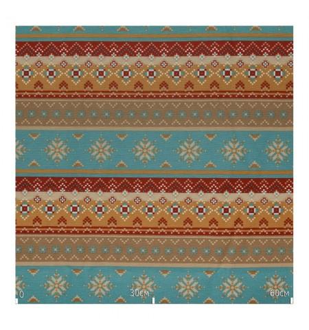 Ткань этнический орнамент бирюза