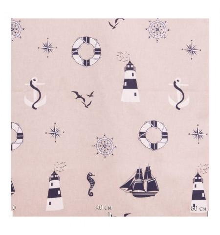 Декоративная ткань, морская
