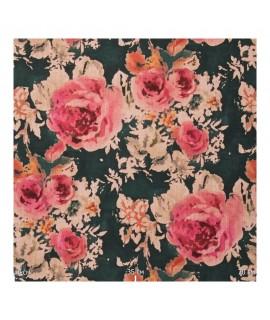 Ткань цветы крупные
