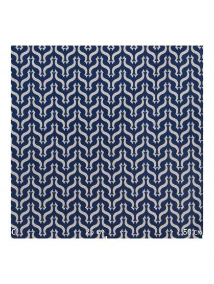 Ткань узор синий