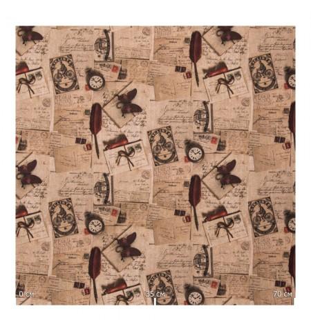 Ткань с принтом старинные аксессуары