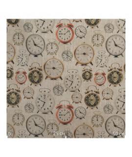 Ткань с принтами часов