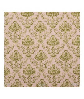 Портьерная ткань небольшие вензеля зеленые