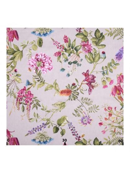 Декоративная ткань волшебный сад розовый