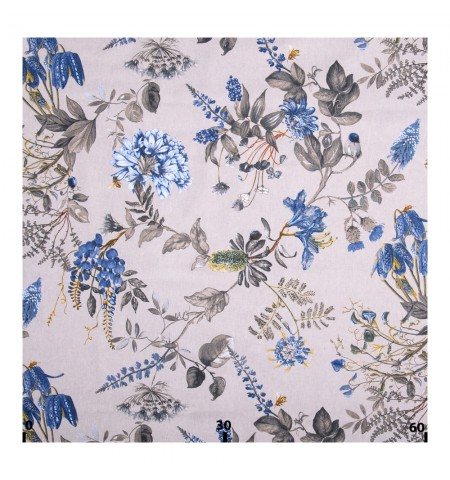 Декоративная ткань волшебный сад синий